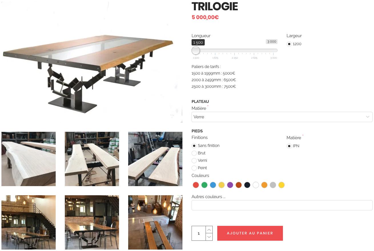 Ipnoze - la table TRILOGIE