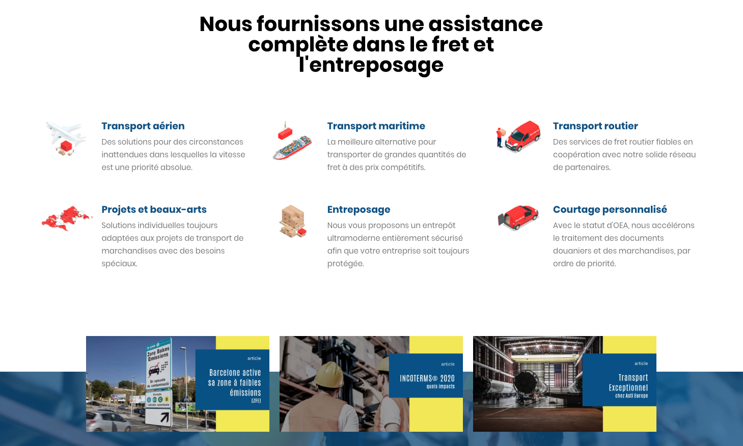 ASTI EUROPE - LES SERVICES - GINSENG WEB