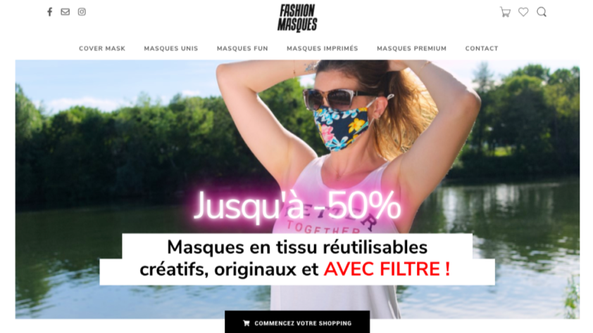 Fashion Masques - page d'accueil