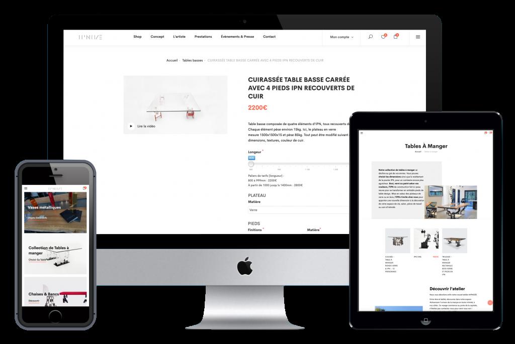 Zoom sur le site e-commerce Ipnoze par Ginseng Web