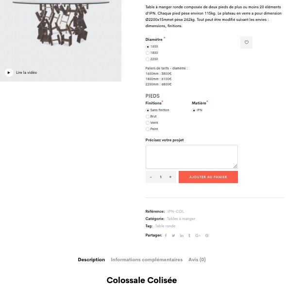 Ipnoze Création fiche produit sur-mesure avec calculateur en ligne - UX UI Design par l'agence Ginseng Web